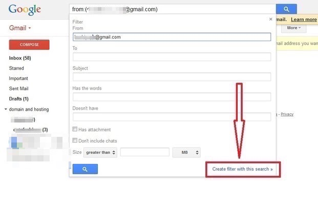 gmail account and import