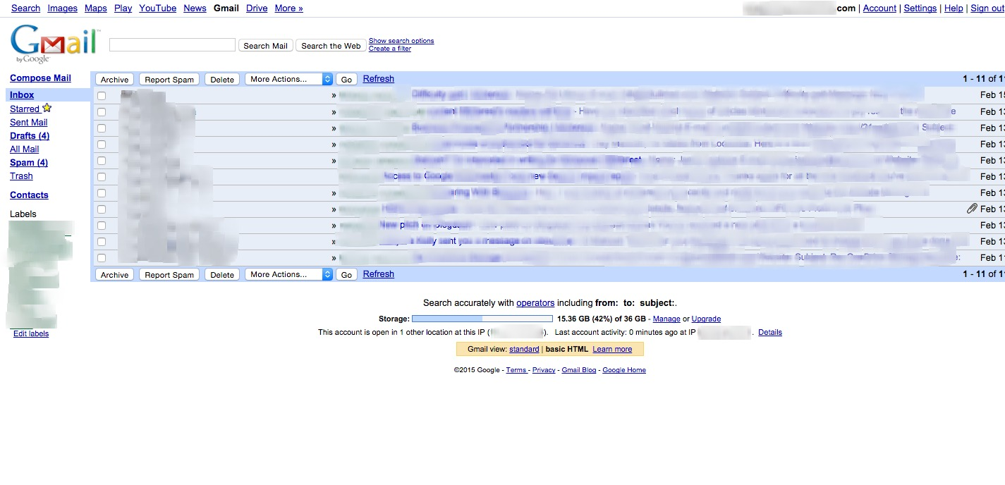 gmail html version