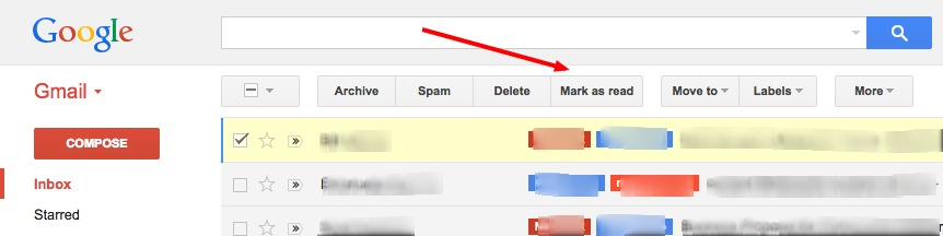 gmail mark as read