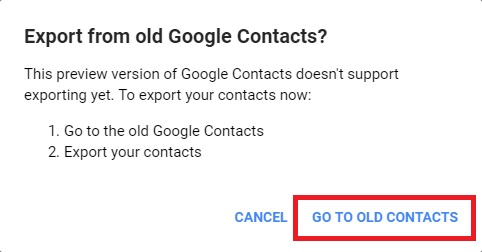 old google contacts